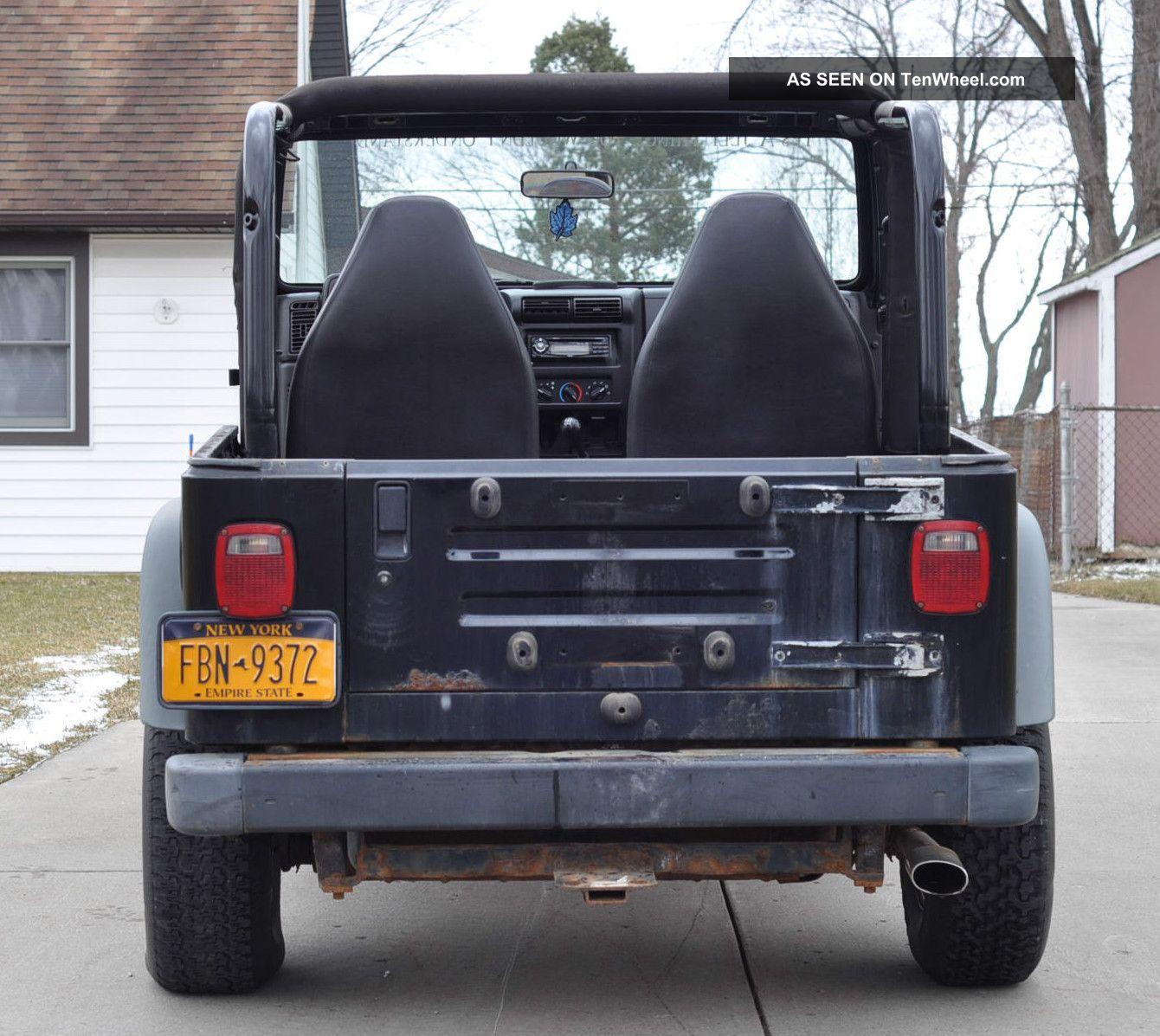 1999 Jeep Wrangler Tj Se 4 Cylinder Project Rebuildable
