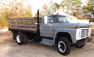 1968 Ford F - 600 Stake Bed Truck Rebuilt 1160 Caterpillar Diesel Spicer Trans photo