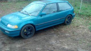 1991 Honda Civic Hatch Si  Jdm Slammed 1988,  1989,  1990 Ef Eg Ek Em photo