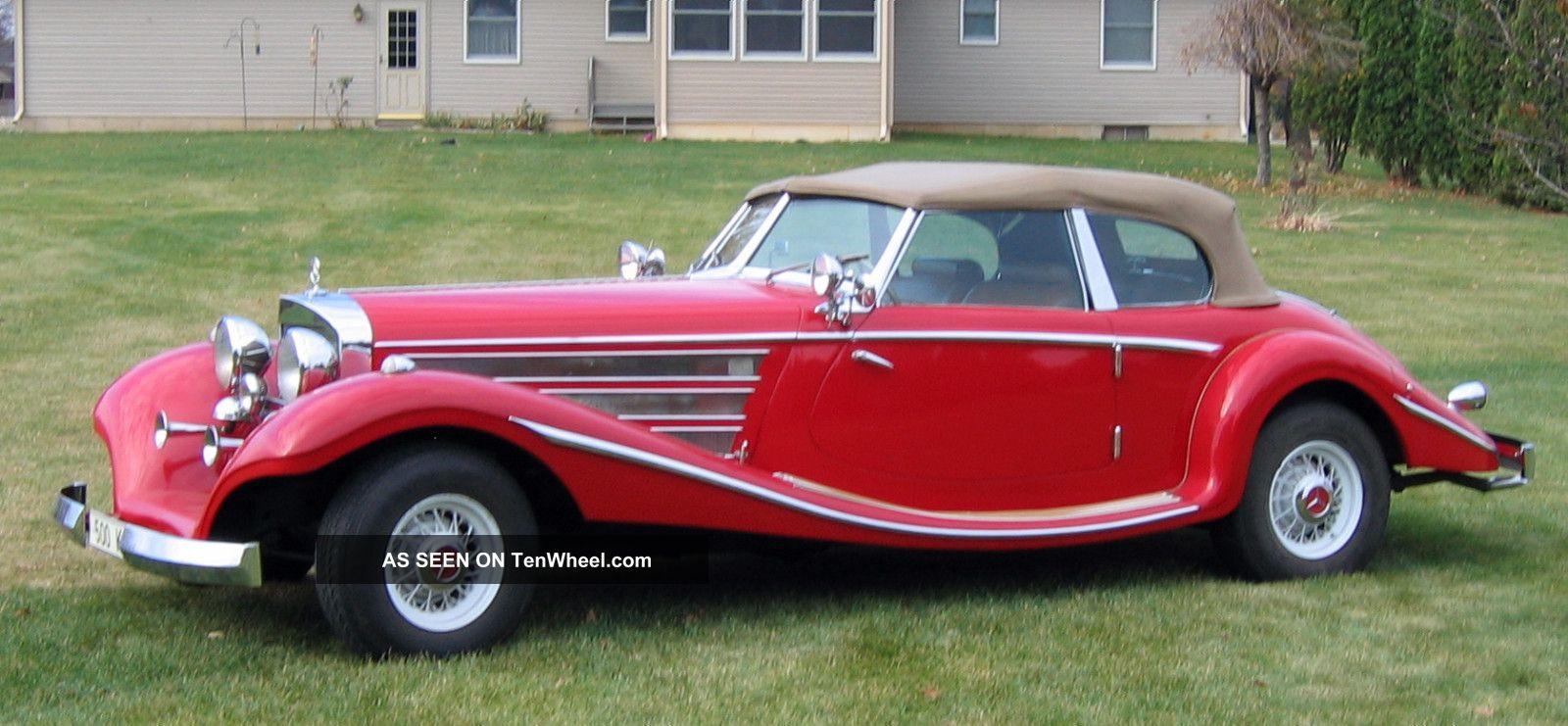 1935 Mercedes 500 K Replica Car All - Steel Body 2 - Door Convertible Automatic Replica/Kit Makes photo