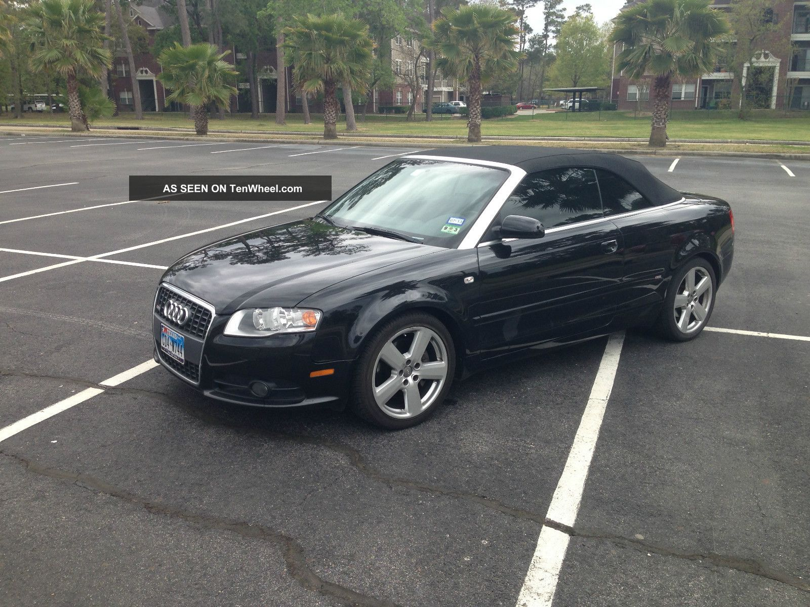 2007 audi a4 cabriolet s line quatto black on black. Black Bedroom Furniture Sets. Home Design Ideas