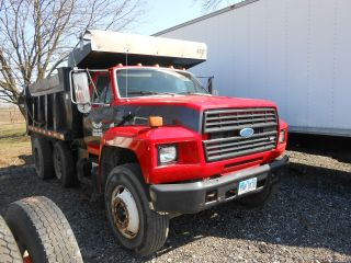 1990 Ford Tandumdump Liftaxle 14ft Steel Bed 5n2 Transmission Reliable Worker photo