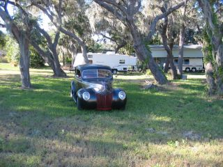 1939 Ford Sedan Street Rod,  Hot Rod,  Air Ride,  Vintage,  Project Rat Rod Flathead photo