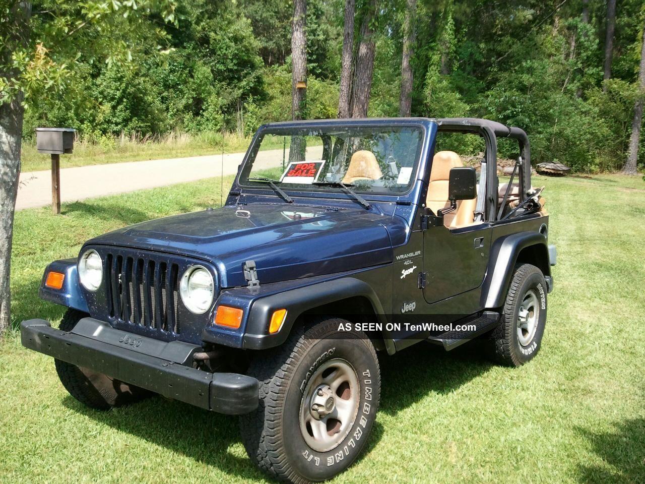 1997 Jeep Wrangler Sport Sport Utility 2 Door 4 0l
