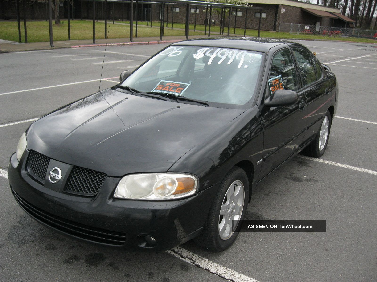 2006 nissan sentra 1 8l 4 door black special edition. Black Bedroom Furniture Sets. Home Design Ideas