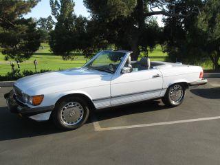 1988 Mercedes 560sl Convertible California Car photo
