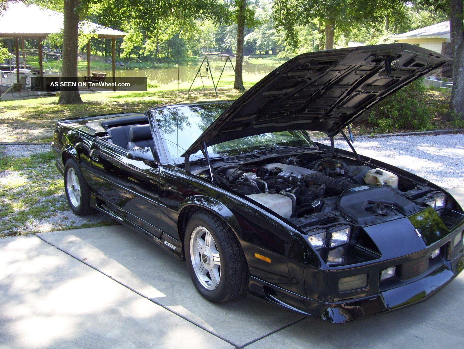 1991 chevrolet camaro rs convertible 2 door 5 0l tenwheel
