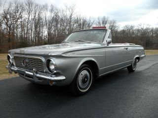 1963 Plymouth Valiant Signet Convertible From Private Collection photo