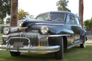 1948 Desoto Custom Series Lwb 8 Passenger Sedan Limousine Rust Orig.  Calif photo