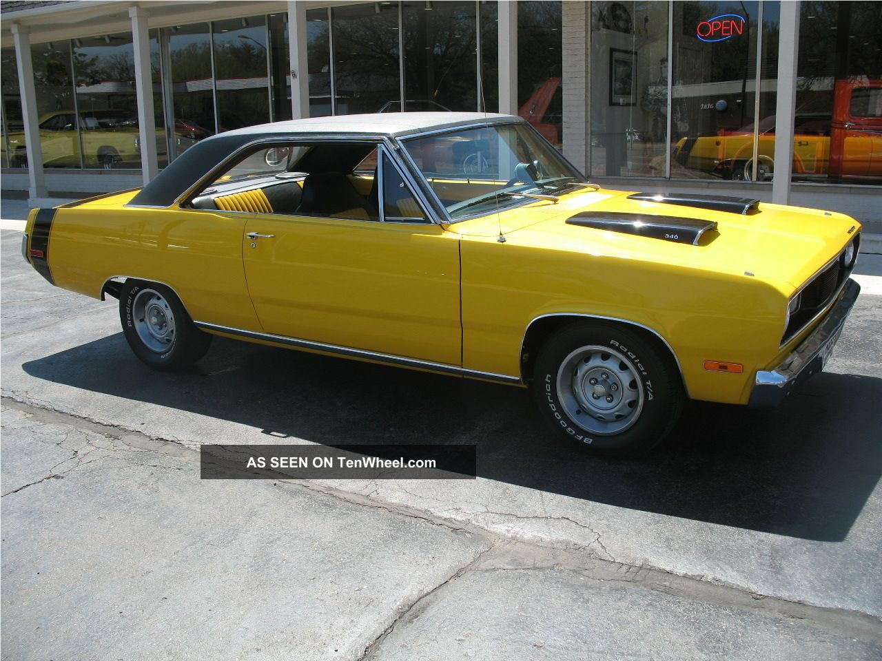 1972 Plymouth Scamp Performance Yellow 340 4 Speed Disc Brakes Recent Resto Duster photo