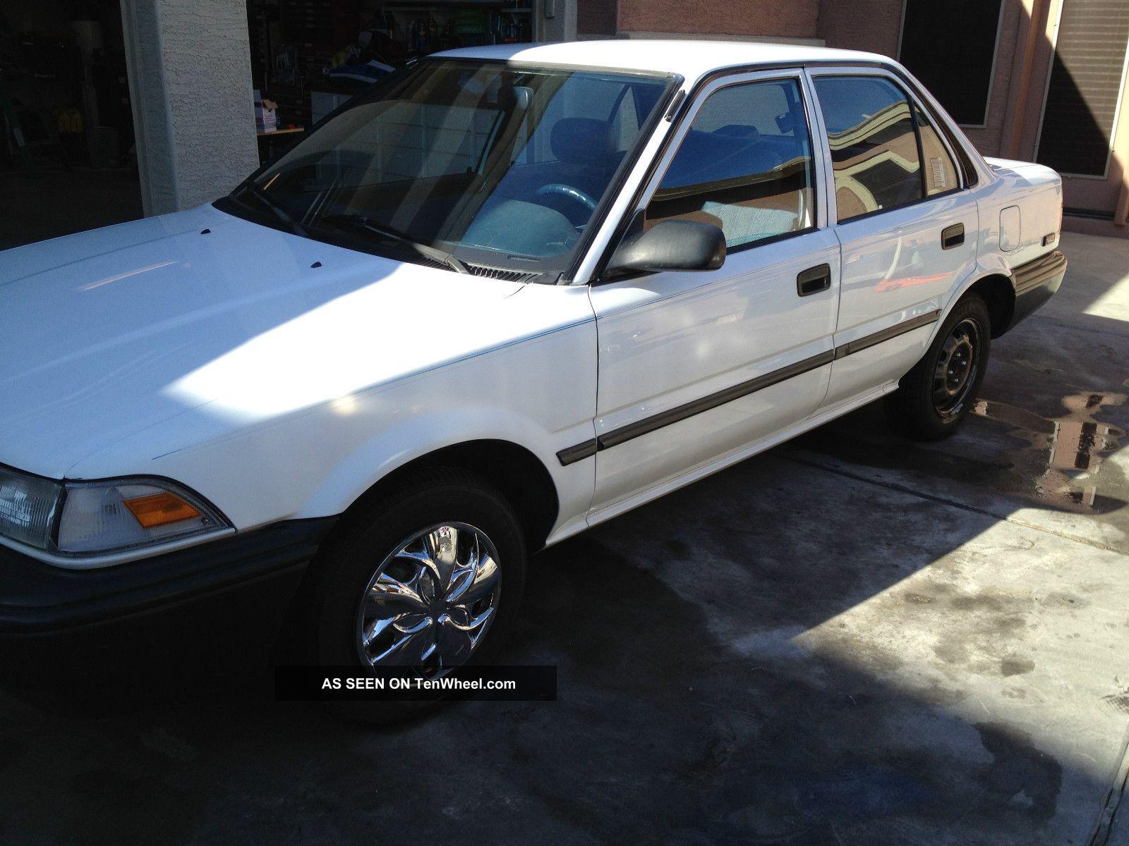 1990 toyota corolla dlx sedan 4 door 1 6l tenwheel