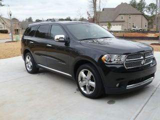 2011 Dodge Durango Citadel Awd 4wd V8 Hemi Black W / Black And Tan Interior photo