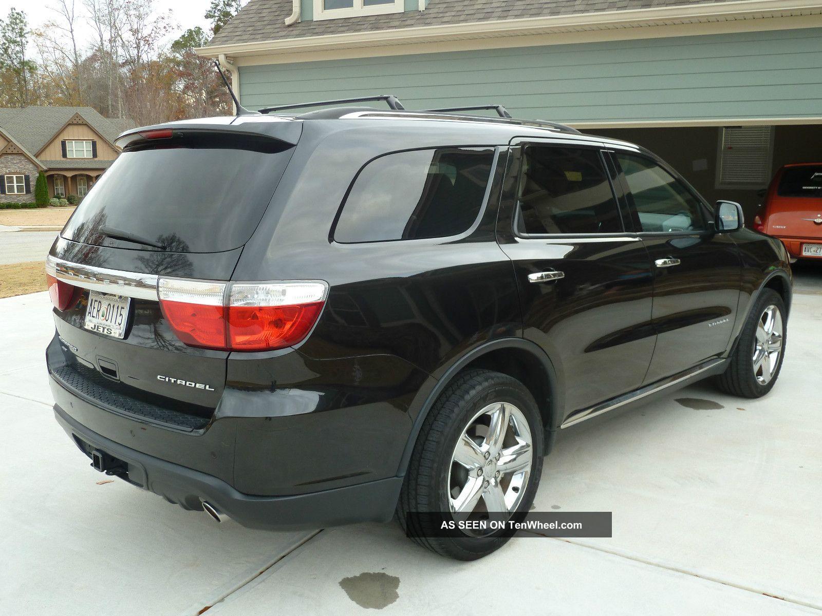 2011 Dodge Durango Citadel Awd 4wd V8 Hemi Black W Black