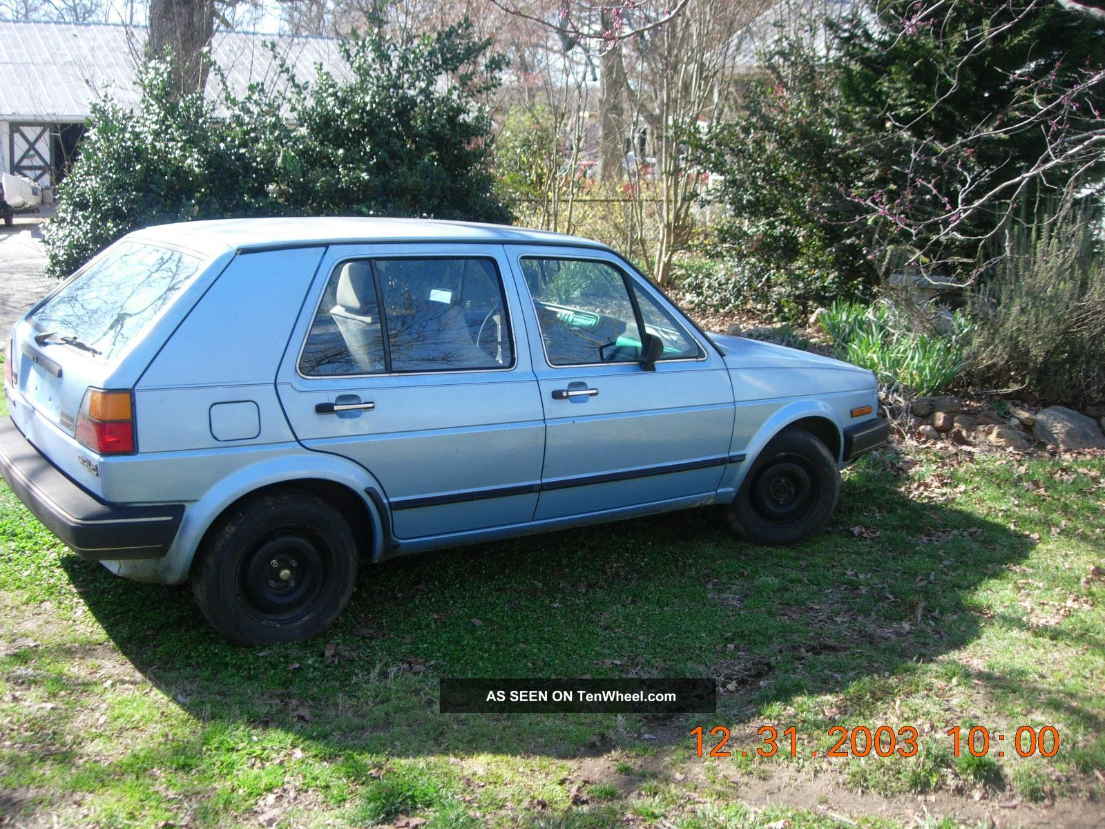 1986 volkswagen golf base hatchback 4 door 1 6l diesel. Black Bedroom Furniture Sets. Home Design Ideas