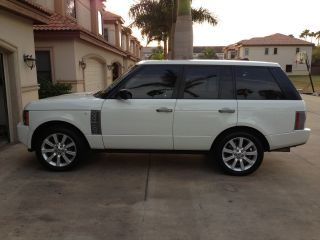 2008 Range Rover Supercharged White photo