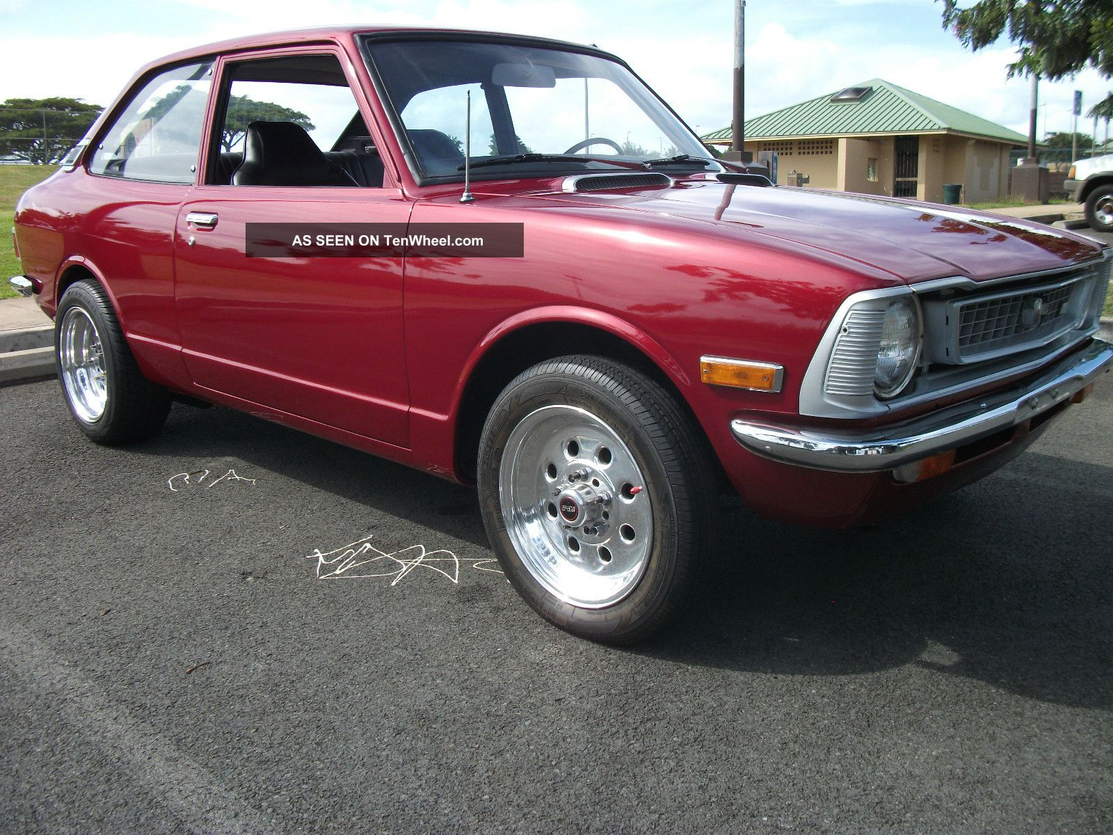 Honda Cars Of Corona >> Classic 1974 Toyota Corolla Sedan Condition, Custom Lexus Red Paint.
