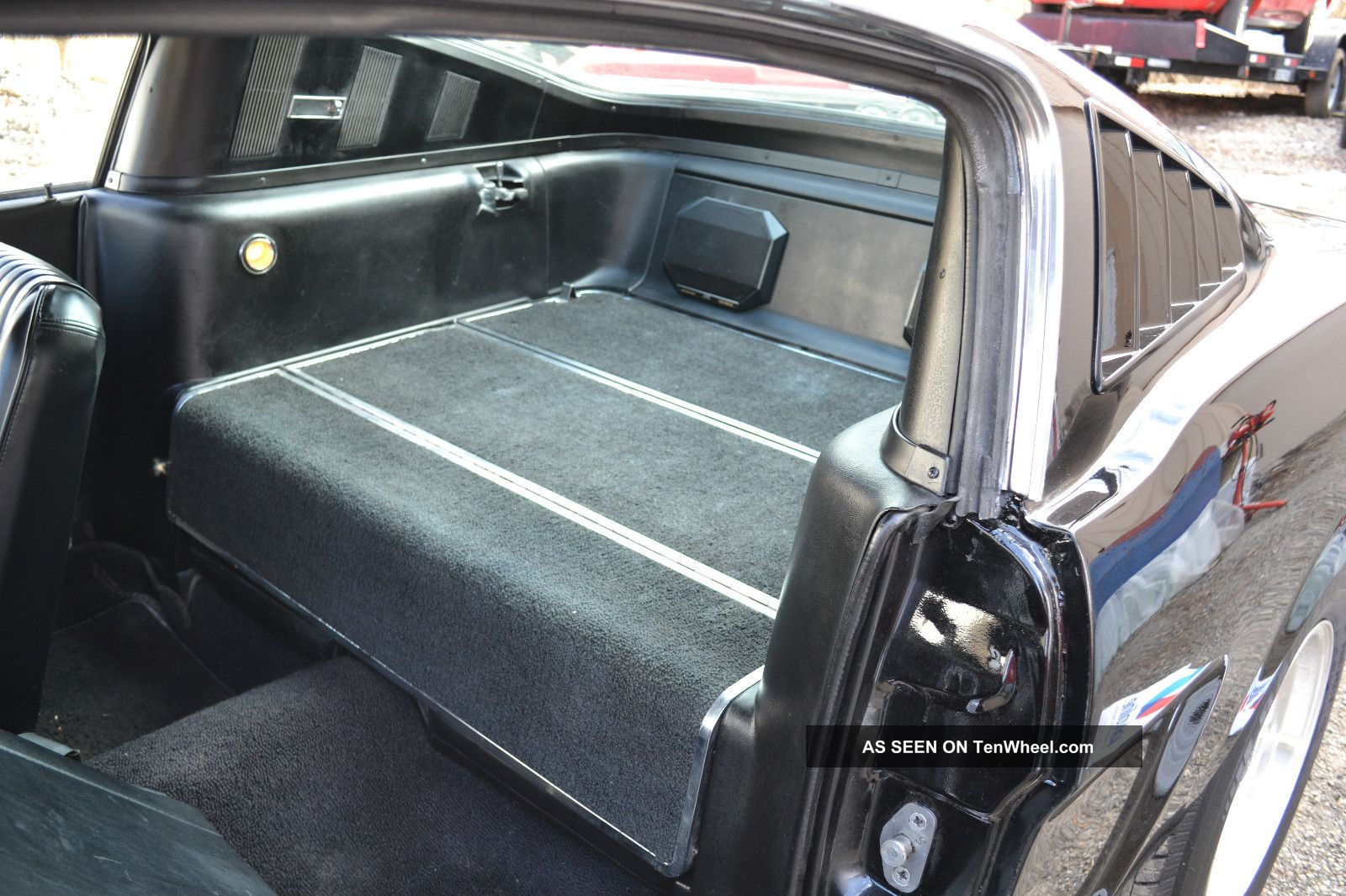 1965 mustang fastback solid deep black paint pony interior