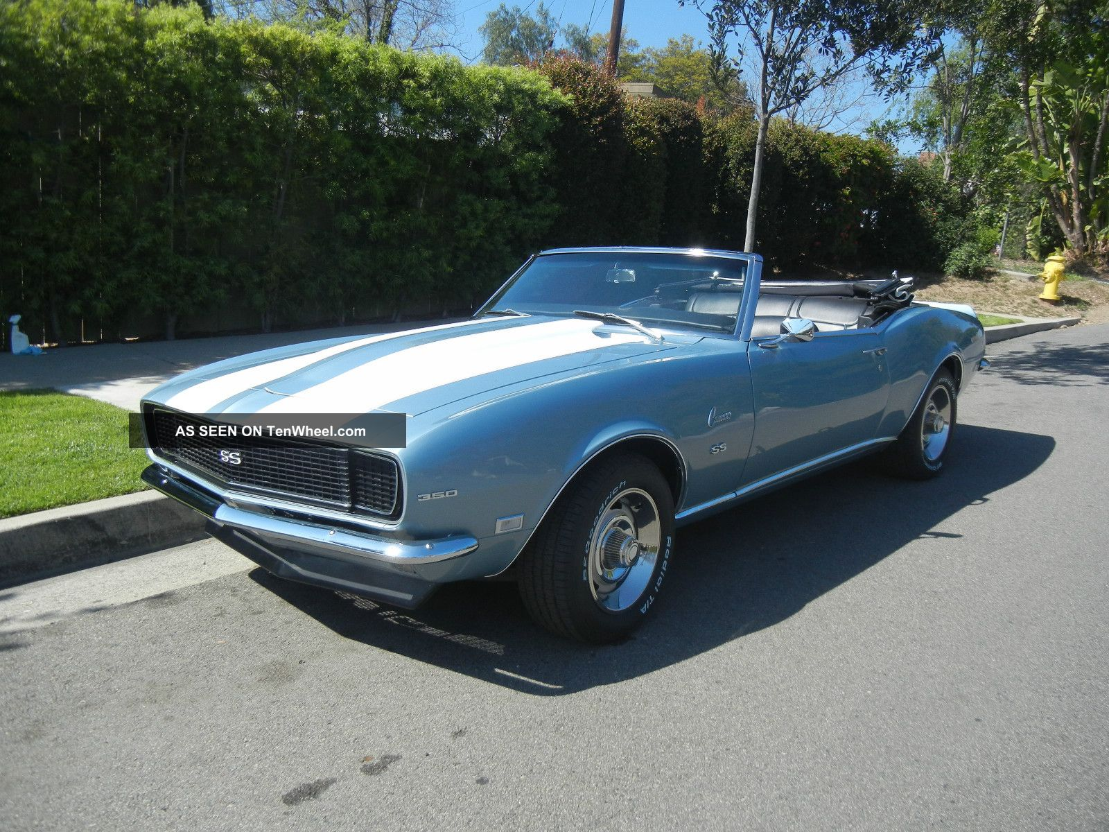 1968 Chevy Camaro Convertible Rs Ss 350 4 Speed Protecto Plate