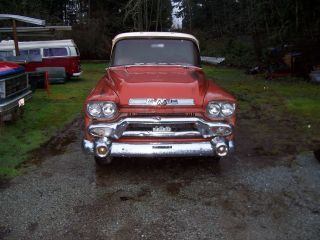 1959 Gmc Rare V / 8 Automatic Has Deluxe Cameo Apache Type Cab Project photo
