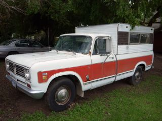 1973 International 1210 'camper Special' Dual Fuel Tank,  Pickup Truck W / Shell photo