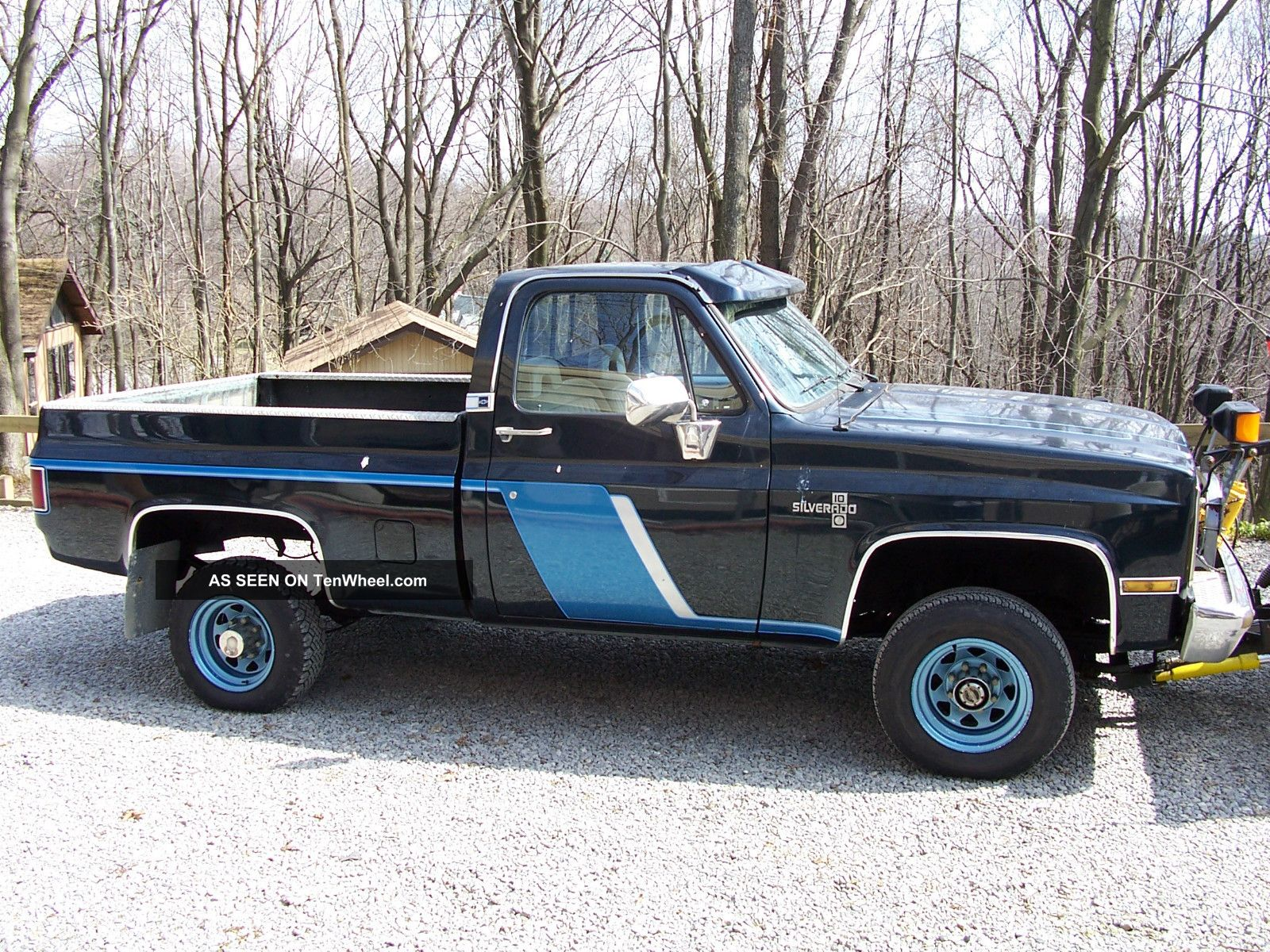 1987 4x4 chevy 3 4 ton short bed pick up with plow. Black Bedroom Furniture Sets. Home Design Ideas