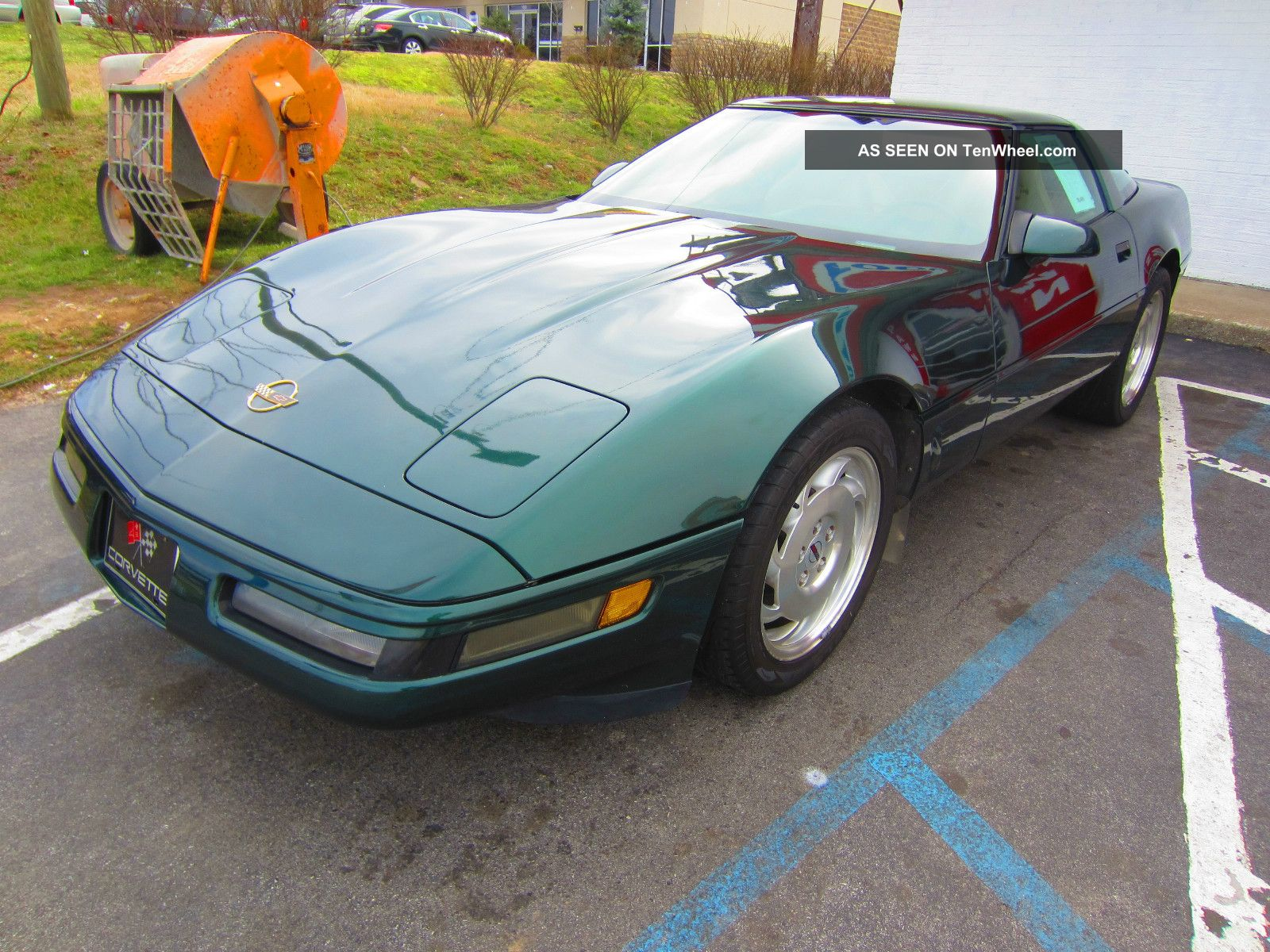 1995 Chevrolet Corvette 6 Speed Green Removable Roof Panel ...