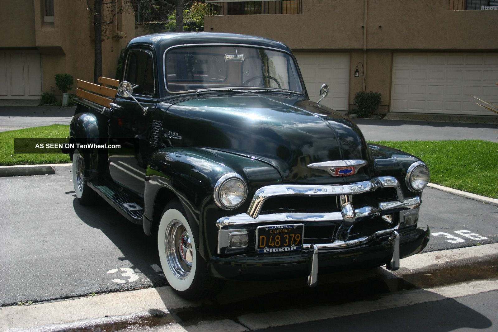 1954 Chevy Truck 3100 3 Speed 5 Window White Walls Thriftmaster Pickup Not Ford