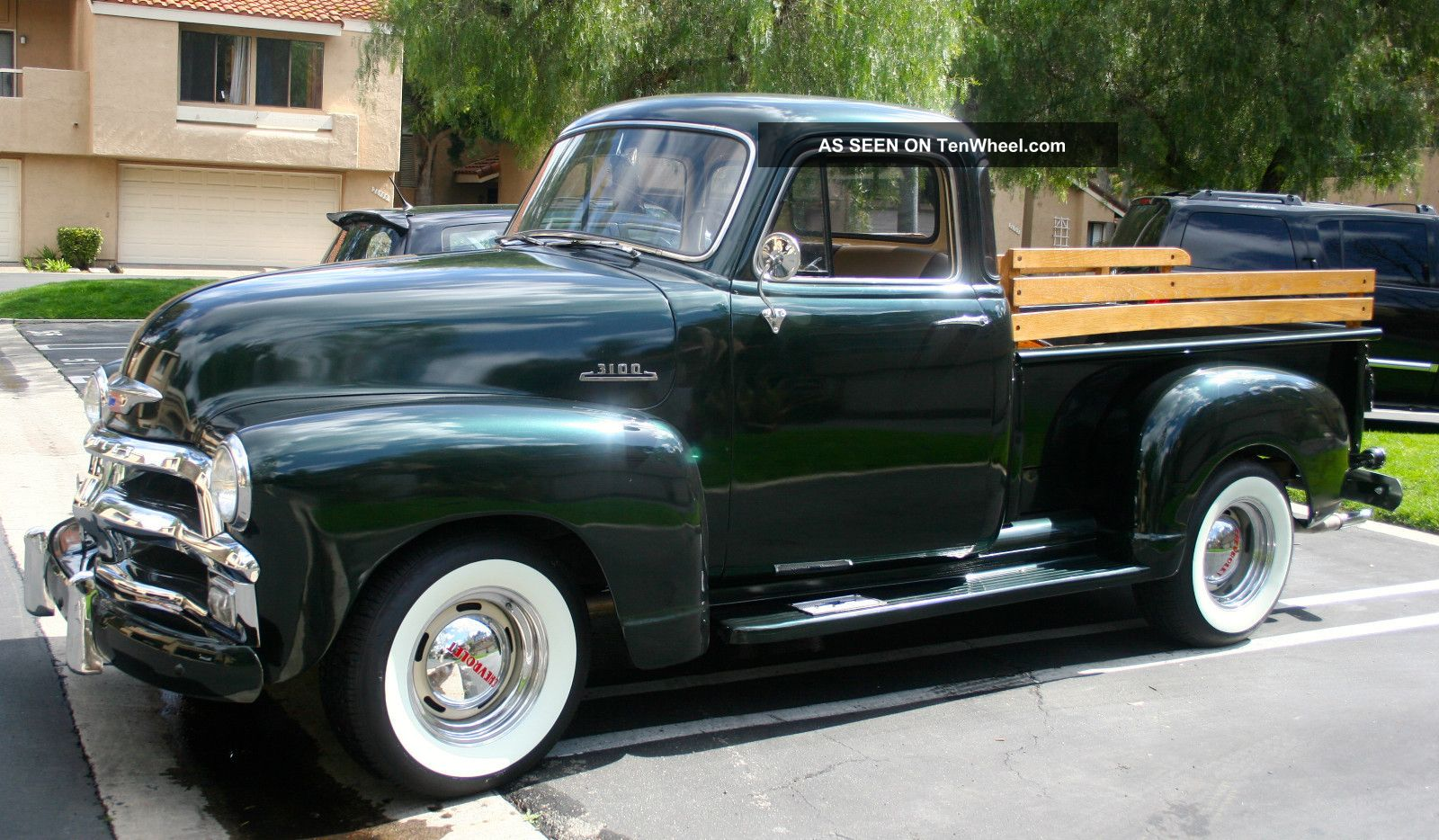 1954 chevy truck 3100 3 speed 5 window white walls for 1954 chevy 5 window