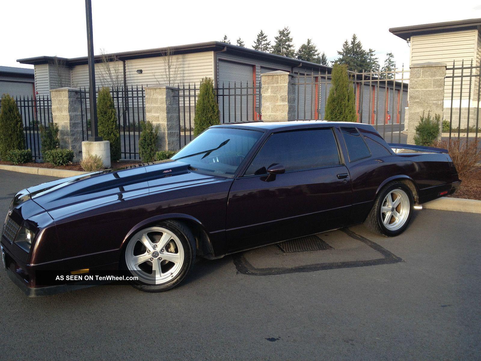1985 Chevy Monte Carlo Ss Resto Retro Mod Old School Big Block 454 ...