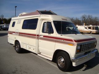 1989 Ford 350 Econoline Transvan Rv Camper Class B Gasoline Motorhome photo