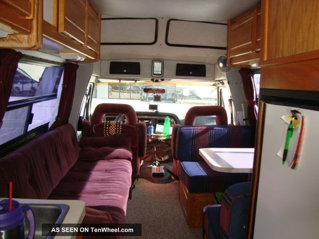Ford Econoline Transvan Rv Camper Class B Gasoline Motorhome Lgw on 1989 Toyota Van Engine
