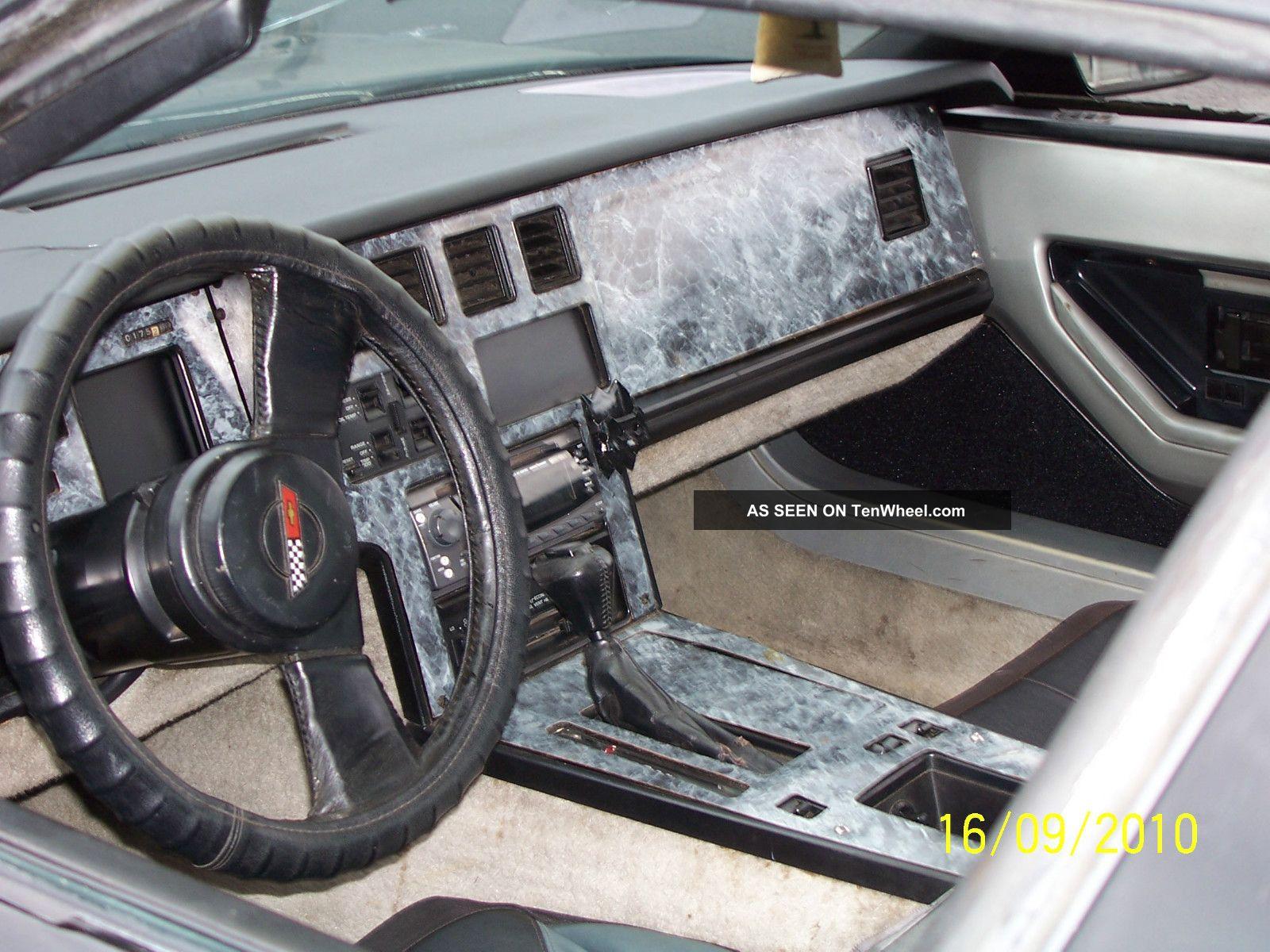 1984 Corvette Coup Rebuilt Motor Black Paint Some Interior Black Grey