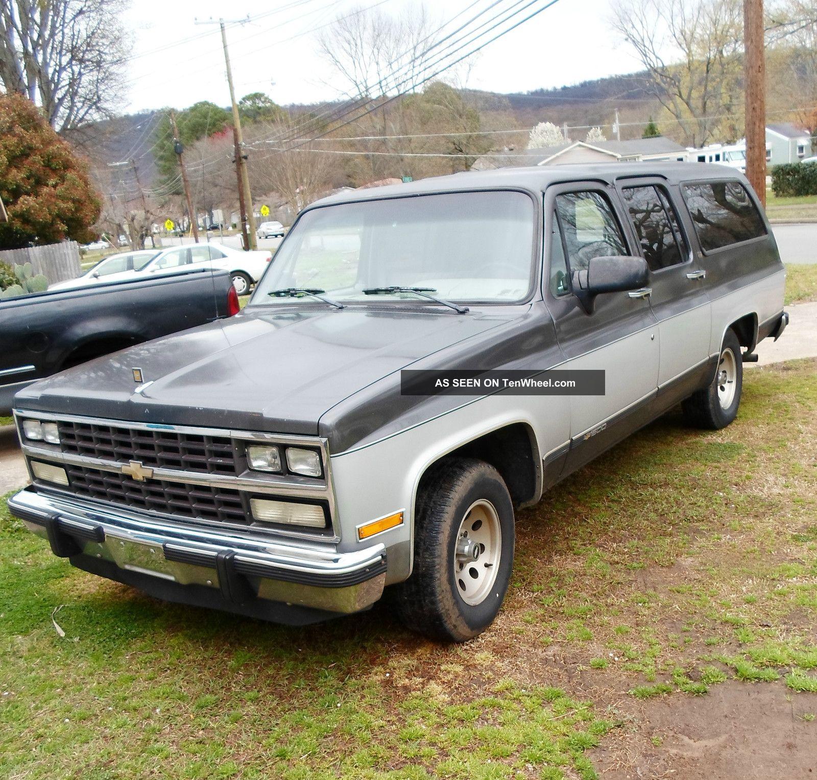 1991 chevy silverado suburban 1500 9 passenger no rust. Black Bedroom Furniture Sets. Home Design Ideas