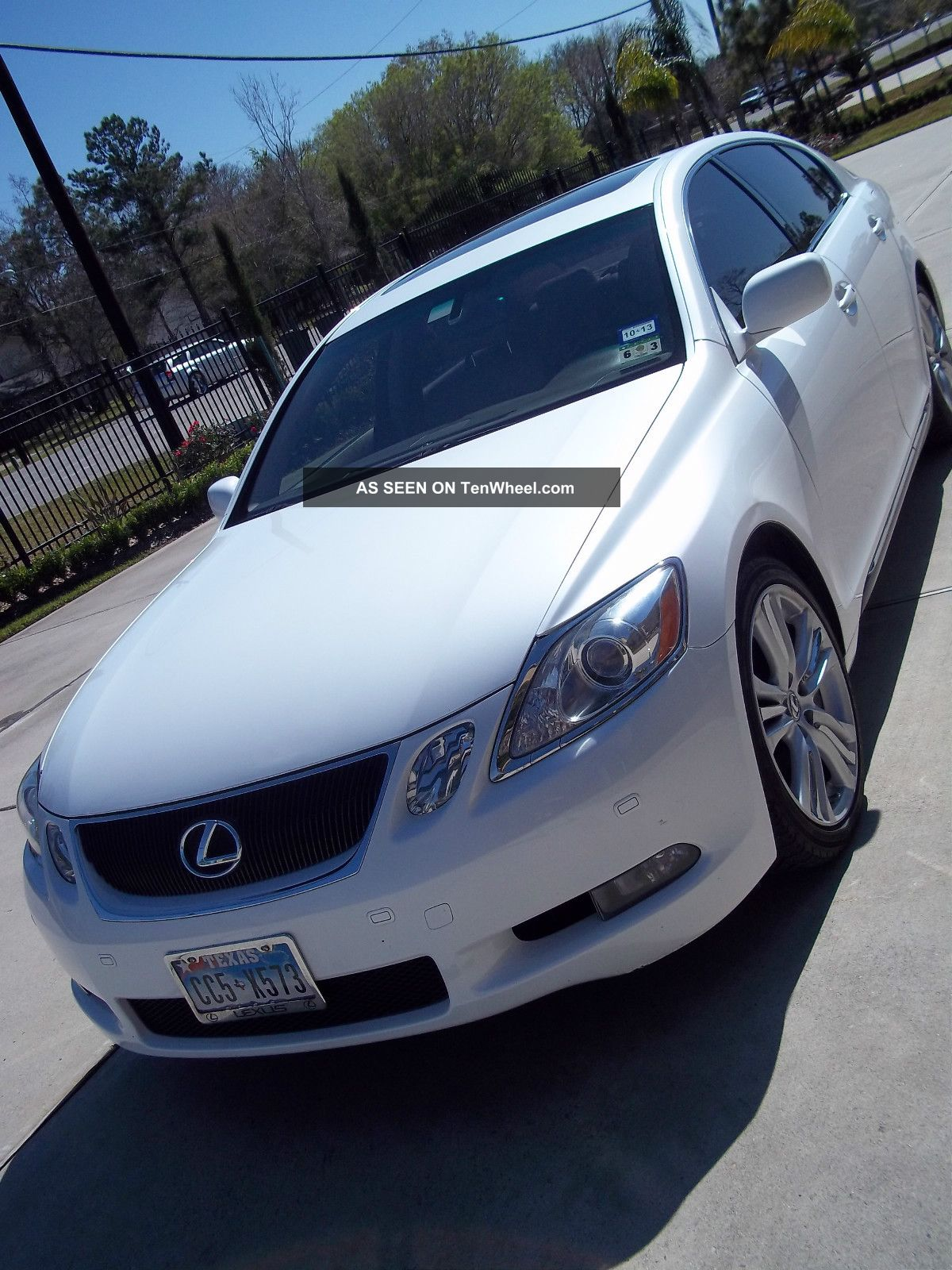 2007 Lexus Gs450h Starfire Pearl White In