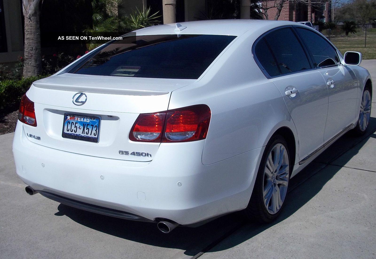 2007 Lexus Gs450h Starfire Pearl White In