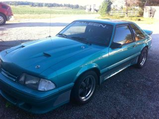 1989 Ford Mustang Saleen Supercharged 306civ8 Tremec Calypso Green photo
