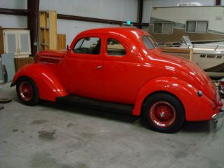 1937 Ford Business Coupe Vintage Flathead 5 Speed Hot Rod Without Pushrods Neat photo
