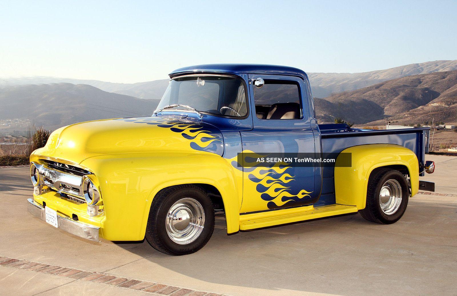 1956 ford f 100 custom pickup truck total restoration tasteful improvements. Black Bedroom Furniture Sets. Home Design Ideas