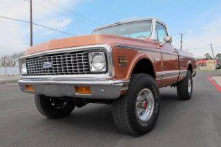 1971 Chevrolet Cheyenne 3 / 4 Ton Pickup 4x4 K20 C20 C10 K10 Chevy Short Bed photo