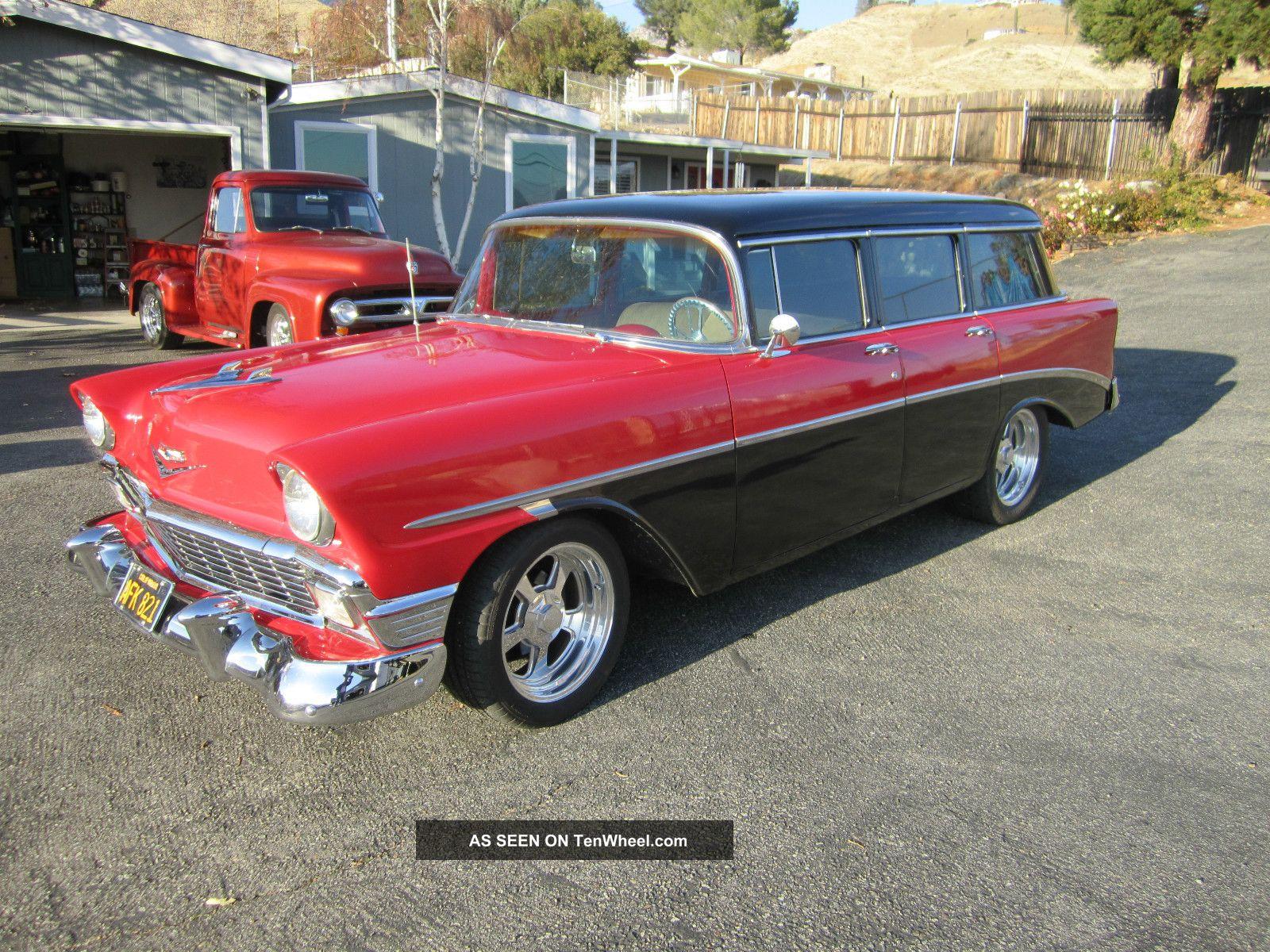 1956 4 Door Wagon,  Disc Brakes,  Custom Wheels,  Rebuilt Front Suspension, Bel Air/150/210 photo
