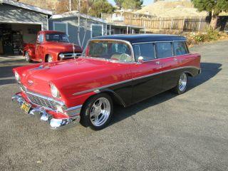 1956 4 Door Wagon,  Disc Brakes,  Custom Wheels,  Rebuilt Front Suspension, photo
