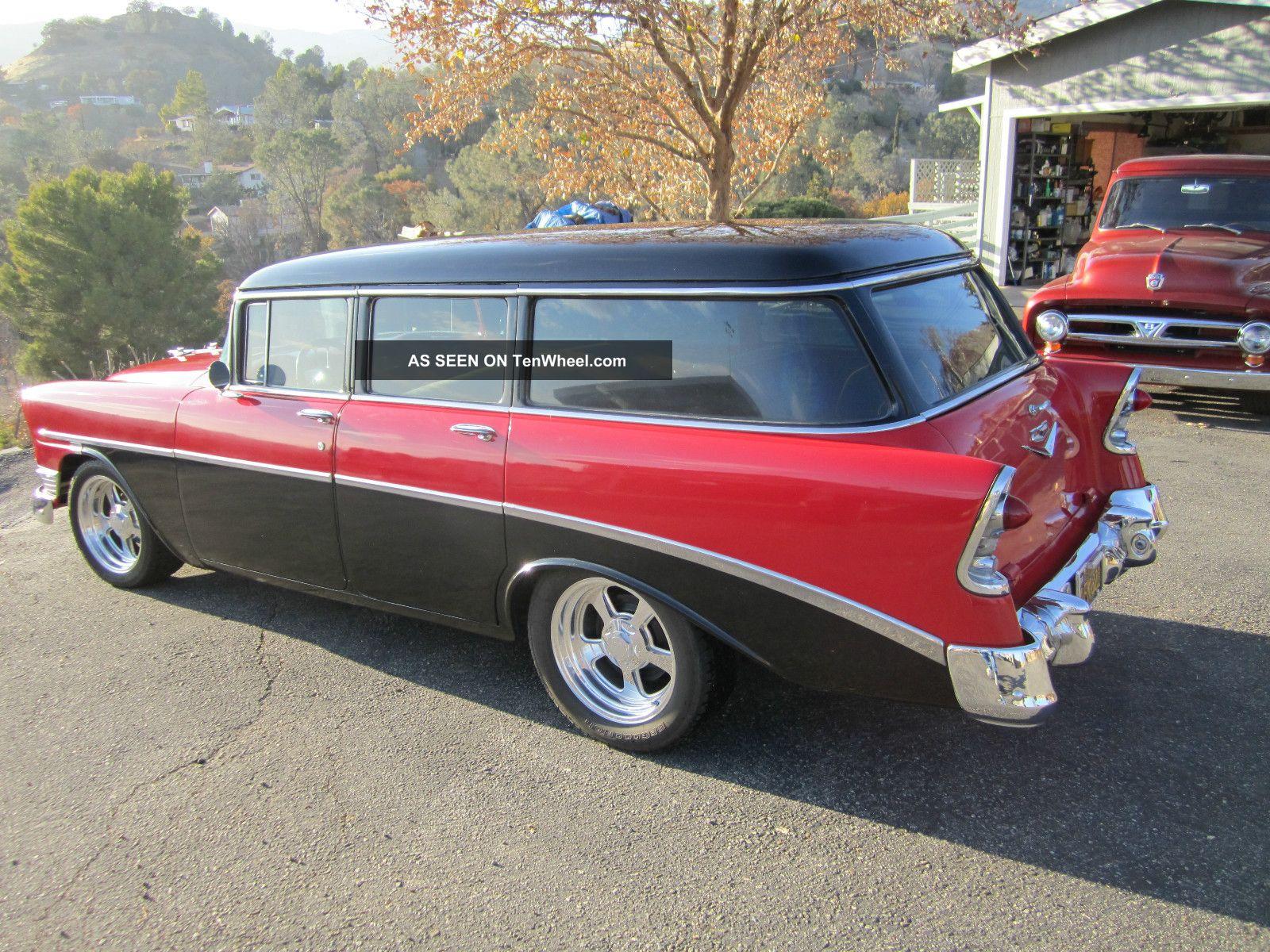 1956 4 door wagon disc brakes custom wheels rebuilt for 1956 chevy wagon 4 door