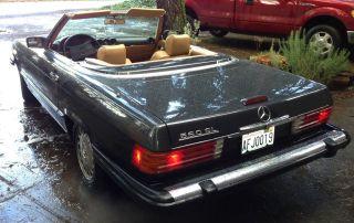 1988 Mercedes Benz Sl - 560 Roadster,  2 Tops.  Black Pearl & Palomino photo