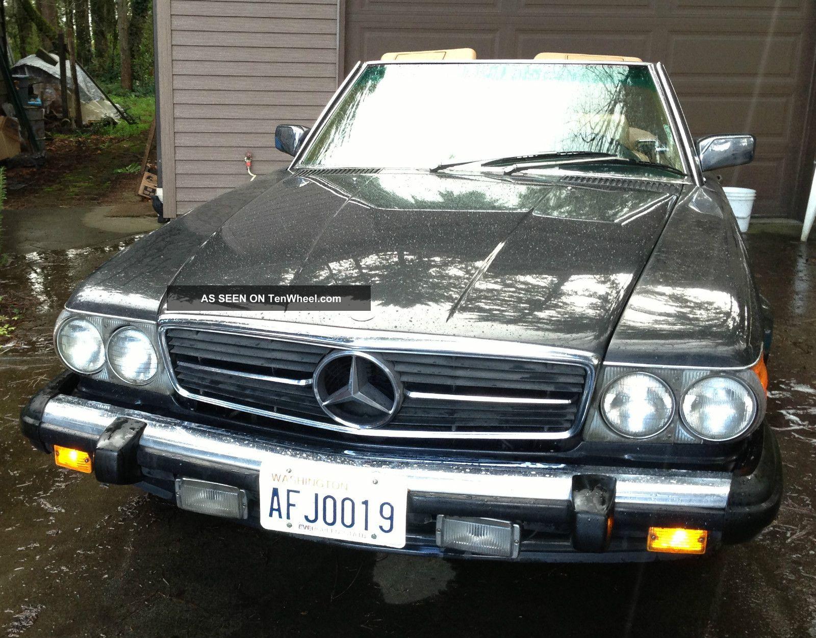 1988 mercedes benz sl 560 roadster 2 tops black pearl for 1988 mercedes benz