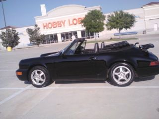 1994 911 Convertible Black On Black,  Clutch,  Power Everything.  Dual Air Bags photo