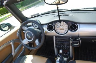 Automatic 2005 British Green Mini Cooper Convertible photo