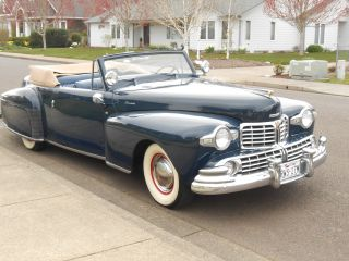 1948 Lincoln Continental Convertible,  Older Restoration,  Survivor photo