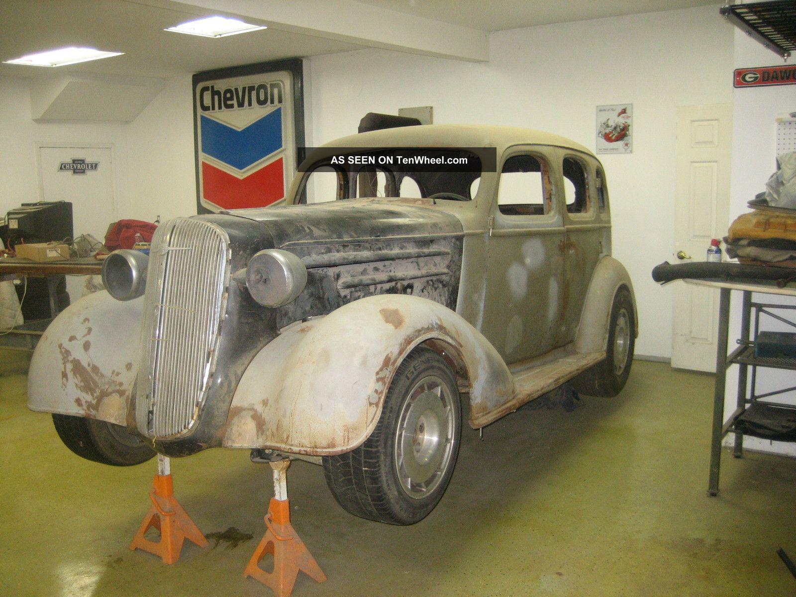 Street rod unfinished 1936 chevrolet 4 door sedan for 1936 chevy 4 door