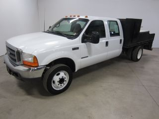 2000 Ford F450 F - 450 7.  3l V8 Turbo Diesel Auto Crew Flatbed Xlt 80 Pics photo