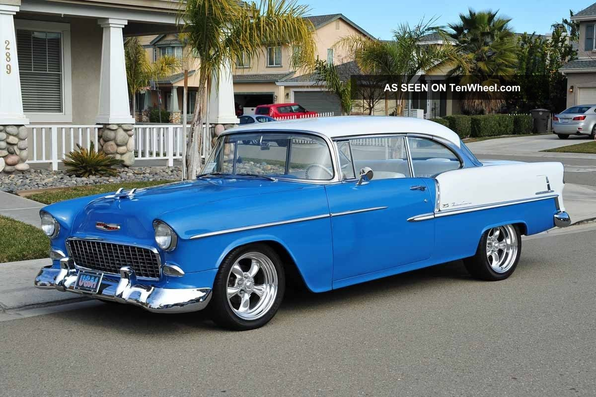 1955 chevy belair 350 4sp paint int pdiscb california show drive